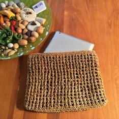 Pochette en fibre naturelle pour tablette
