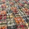Madras orange Couvre-lit 1 personne
