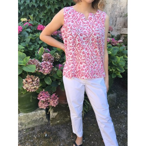 Top caftan TAJ rose