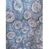 Top caftan MAHAL fleuri bleu et gris