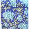 Top caftan MAHAL fleuri vert et bleu