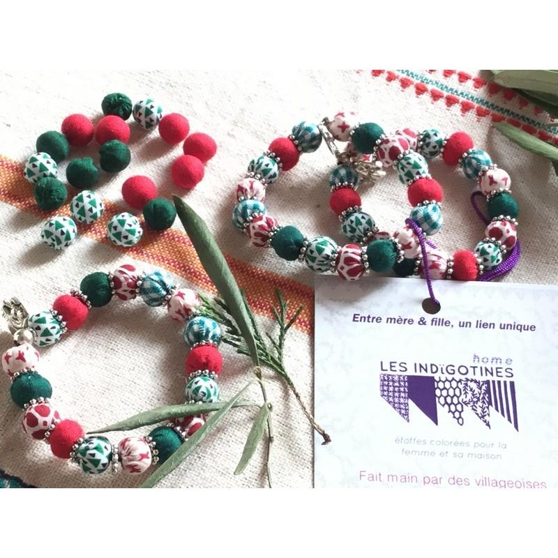 DUO bracelets INDIE vert et rouge