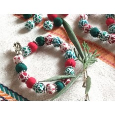 Bracelet INDIE vert et rouge